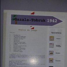 Juegos Antiguos: WARGAME GAZALA TOBRUK 1942, DE LUDOPRESS. Lote 78029213