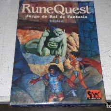 Juegos Antiguos: RUNEQUEST CAJA COMPLETA BUEN ESTADO. Lote 78460189