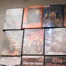 Juegos Antiguos: LOTE DE 18 JUEGOS PARA PC ORIGINALES. Lote 79115766
