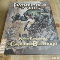 Juegos Antiguos: PATHFINDER - PEONES - CAJA DEL BESTIARIO - JUEGO DE ROL - DEVIR - PRECINTADO. Lote 84661688