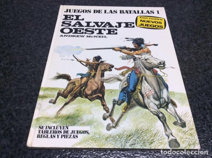 JUEGOS DE LAS BATALLAS 1. EL SALVAJE OESTE .-ED. PLAZA Y JANÉS 1977 MANTIENE FICHAHAS (Juguetes - Rol y Estrategia - Otros)