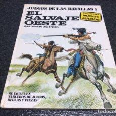 Juegos Antiguos: JUEGOS DE LAS BATALLAS 1. EL SALVAJE OESTE .-ED. PLAZA Y JANÉS 1977 MANTIENE FICHAHAS. Lote 56963917