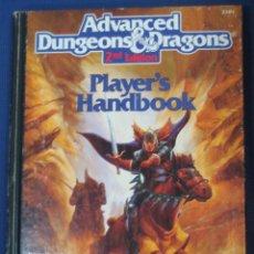 Juegos Antiguos: LIBRO JUEGO DE ROL ADVANCED DUNGEONS & DRAGONS PLAYER´S HANDBOOK. Lote 91672640