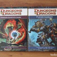 Juegos Antiguos: DUNGEONS & DRAGONS JUEGO ROL WOTC D&D MANUALES HANDBOOK MASTER GUIDE. Lote 92915445