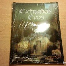 Juegos Antiguos: EXTRAÑOS EVOS - LA LLAMADA DE CTHULHU DE D100 - ROL. Lote 93071695