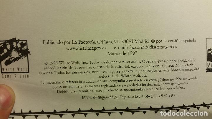 Juegos Antiguos: Mundo de Tinieblas - Vampiro Mascarada - Mago Ascensión - Hombre Lobo Apocalipsis - ROL - Foto 3 - 86280764
