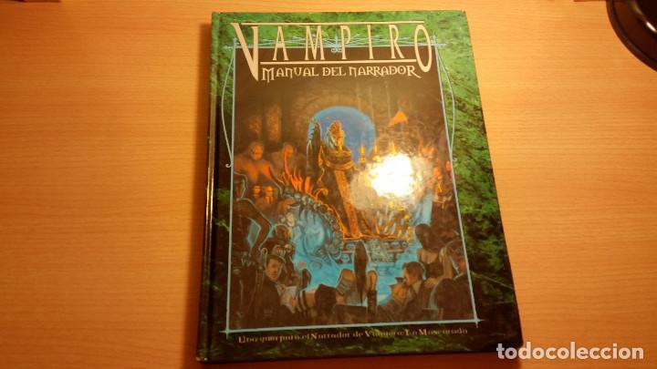 MANUAL DEL NARRADOR DE VAMPIRO MASCARADA - VAMPIRO REQUIEM - HOMBRE LOBO - MUNDO DE TINIEBLAS - ROL (Juguetes - Rol y Estrategia - Juegos de Rol)