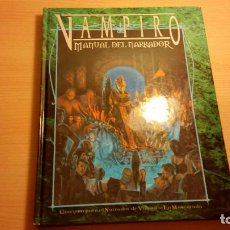 Juegos Antiguos: MANUAL DEL NARRADOR DE VAMPIRO MASCARADA - VAMPIRO REQUIEM - HOMBRE LOBO - MUNDO DE TINIEBLAS - ROL. Lote 93822845