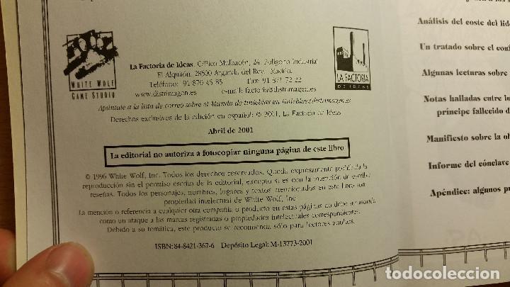 Juegos Antiguos: Guia del Principe - Vampiro Mascarada - Teatro de la Mentes - Mundo de Tinieblas - ROL - Foto 3 - 93823140