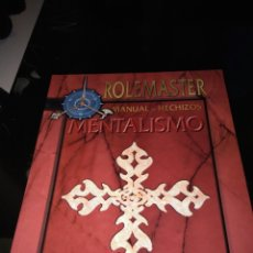 Juegos Antiguos: ROLEMASTER. MANUAL DE HECHIZOS MENTALISMO.. Lote 93962955