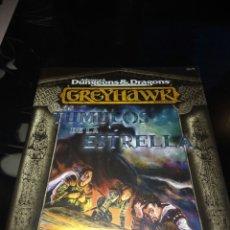 Juegos Antiguos: GREYHAWK. LOS TÚMULOS DE LA ESTRELLA.. Lote 109288867