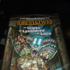 Juegos Antiguos: GREYHAWK. LA CRIPTA DE LYZANDRED EL LOCO. Lote 109288824