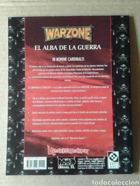Juegos Antiguos: Warzone: El Alba de la Guerra. Compendio Volumen 1. Target Games / Mutant Chronicles / Heartbreaker - Foto 2 - 126087580