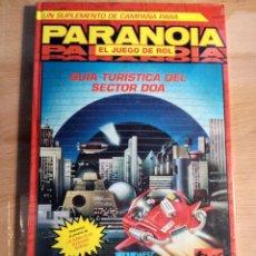 Juegos Antiguos: PARANOIA EL JUEGO DE ROL GUIA TURISTICA DEL SECTOR DOA. Lote 114341230