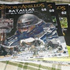 Juegos Antiguos: EL SEÑOR LOS ANILLOS BATALLAS EN LA TIERRA MEDIA DEL 58 AL 65. Lote 96039819