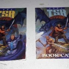 Juegos Antiguos: LOTE CATALOGOS TSR 1992 CATALOGO DE JUEGOS DE ROL D&D ETC Y CATALOGO DE LIBROS TSR 1992 DIFICIL. Lote 96488479