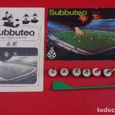 Juegos Antiguos: SUBBUTEO,JUGADORES Y CATALOGO DE EPOCA..INSTRUCCIONES.. Lote 96793867