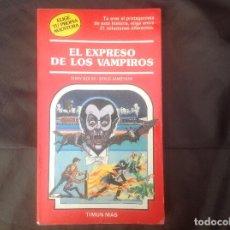 Juegos Antiguos: ELIGE TU PROPIA AVENTURA NÚMERO 17, EL EXPRESO DE LOS VAMPIROS TIMUN MAS 1984. Lote 96966295