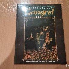 Juegos Antiguos: LIBRO DE CLAN GANGREL DE VAMPIRO MASCARADA - MUNDO DE TINIEBLAS - VAMPIRO REQUIEM - ROL. Lote 97296667