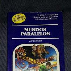 Juegos Antiguos: MUNDOS PARALELOS: ELIGE TU PROPIA AVENTURA, TIMUN MAS. Lote 98044999
