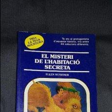 Juegos Antiguos: EL MISTERI DE L'HABITACIO SECRETA: TRIA LA TEVA AVENTURA, TIMUN MAS. Lote 98045031