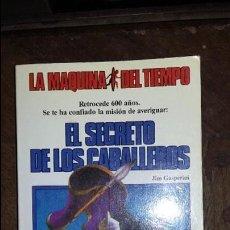 Juegos Antiguos: LA MAQUINA DEL TIEMPO: EL SECRETO DE LOS CABALLEROS, TIMUN MAS. Lote 98045147