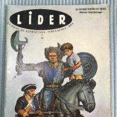 Juegos Antiguos: REVISTA LIDER ROL N 34. Lote 98377951