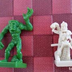 Juegos Antiguos: LOTE 2 MINIATURAS DUNGEONS & DRAGONS D&D JUEGO DE MESA AVENTURA FANTASTICA FANTASY PARKER. Lote 98379807