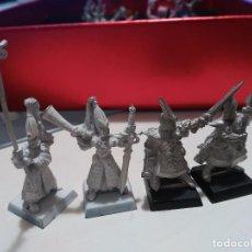 Juegos Antiguos: LOTE 4 FIGURAS METAL WARHAMMER GRANDES ESPADEROS DE ULTHUAN, DE LA RAZA ALTOS ELFOS. Lote 98628627
