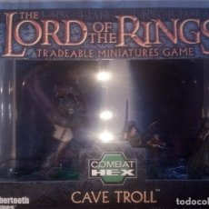 Juegos Antiguos: COMBAT HEX CAVE TROLL THE LORD OF THE RING TRADEABLE MINIATURE SELLADO. Lote 99356947
