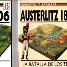 Juegos Antiguos: LOTE 2 LIBROS COLECCIÓN EJÉRCITOS Y BATALLAS ED. DEL PRADO. Lote 101128407