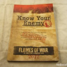 Juegos Antiguos: FLAMES OF WAR KNOW YOUR ENEMY 2012. Lote 101268759