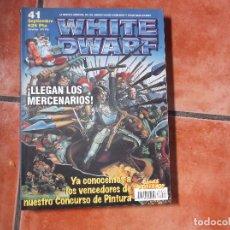 Jogos Antigos: WHITE DWARF Nº 41. MERCENARIOS. TIRADORES DE MIRAGLIANO. MARINES ESPACIALES. LOS POSEIDOS.. Lote 101541751