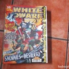 Juegos Antiguos: WHITE DWARF Nº 35. SALVAJES DEL DESIERTO. INFORMES DE BATALLA. AMANECER NECRON. KHORNE.. Lote 211720451