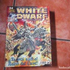 Juegos Antiguos: WHITE DWARF Nº 34. REINO DEL CAOS. KADAKLAN. CONSEJOS DE PINTURA. CONSTRUCCION DE ESCENOGRAFIA.. Lote 211720504