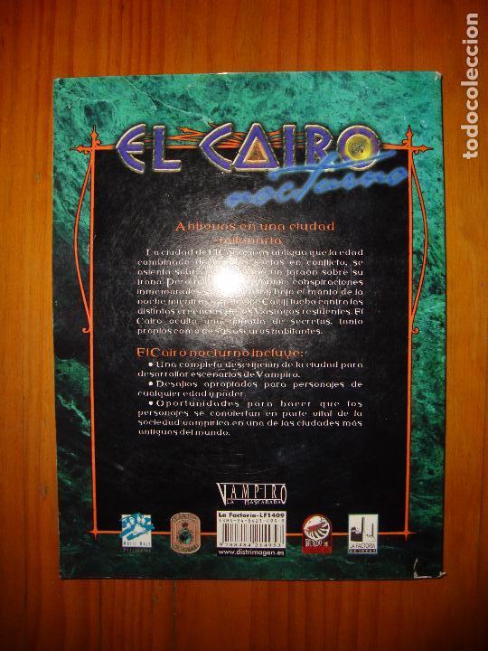 Juegos Antiguos: EL CAIRO NOCTURNO - C. A. SULEIMAN - SUPLEMENTO PARA VAMPIRO: LA MASCARADA, LA FACTORÍA DE IDEAS - Foto 3 - 101622091