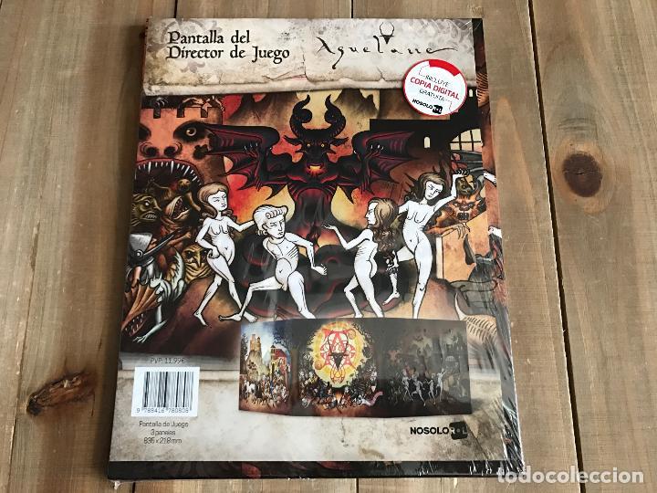Juegos Antiguos: AQUELARRE - Pantalla del Director de Juego - juego de rol - Nosolorol - Precintado - Foto 2 - 102174367