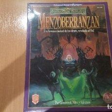 Juegos Antiguos: MENZOBERRANZAN CIUDAD DROW - ADVANCED DUNGEONS & DRAGONS - DRAGONLANCE - FORGOTTEN REALMS - ROL. Lote 103491723
