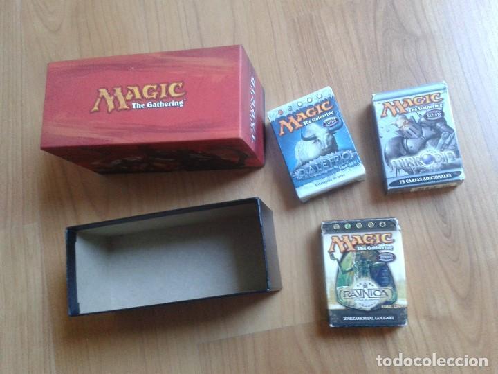 4 CAJAS VACÍAS DE CARTAS MAGIC - 1 GRANDE Y 3 PEQUEÑAS (Juguetes - Rol y Estrategia - Juegos de Rol)