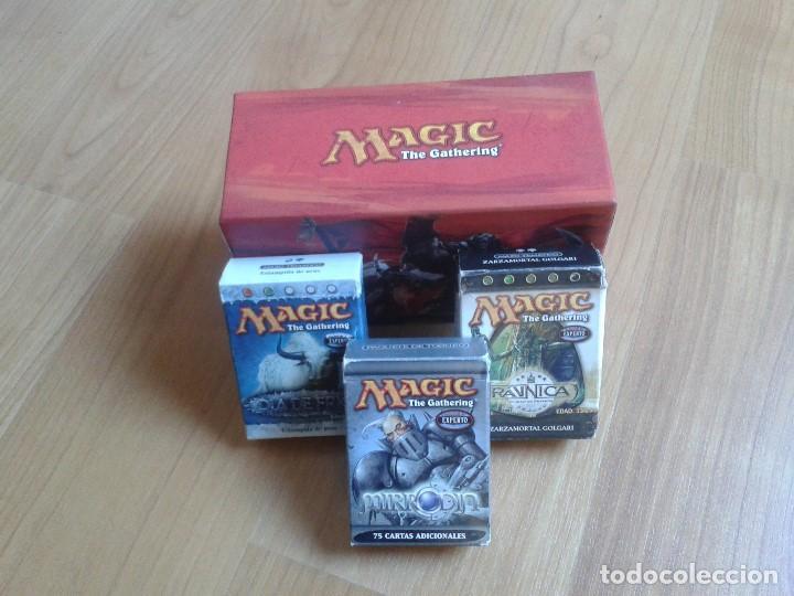 Juegos Antiguos: 4 Cajas vacías de cartas Magic - 1 grande y 3 pequeñas - Foto 6 - 103599843