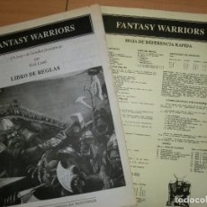 Juegos Antiguos: MANUAL REGLAMENTO FANTASY WARRIORS MEDIEVAL. Lote 104294195