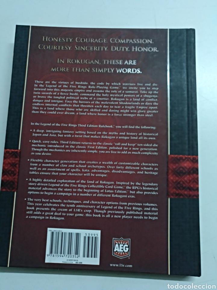 Juegos Antiguos: Legend Of The Five Rings (Roleplaying Game, 3° Edición) - Foto 2 - 104382759