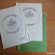 Juegos Antiguos: LOTE BOLETINES DE MAQUETISMO Y SIMULACIÓN (1981 - 1982) MS WARGAMES CULTO. Lote 104612051