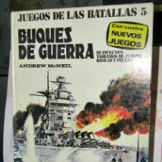 Juegos Antiguos: JUEGOS DE LAS BATALLAS 5 - BUQUES DE GUERRA - ANDREW MCNEIL - PLAZA & JANES SIN LAS FICHAS. Lote 104919283