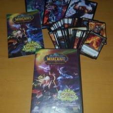 Juegos Antiguos: WORLD OF WARCRAFT MAZO INICIO CON 63 CARTAS,3 GRANDES,CAJA E INSTRUCCIONES.. Lote 105008426