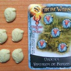 Juegos Antiguos: SPHERE WARS - WARHAMMER - WARGAME - TOKENS DE MANDO - MARCADORES DE OBJETIVO. Lote 105814499
