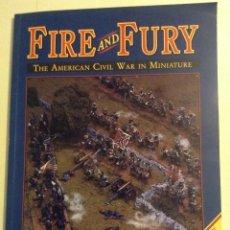Juegos Antiguos: REGLAMENTO WARGAME FIRE & FURY BATALLA DE GETTYSBURG EN INGLES. Lote 107169163