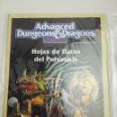 Juegos Antiguos: ADVANCED DUNGEONS & DRAGONS 2ª EDICIÓN HOJAS DE DATOS DEL PERSONAJE. Lote 107568123