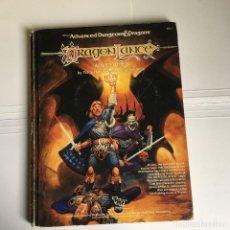Juegos Antiguos: DRAGONLANCE - ADVANCED DUNGEONS & DRAGONS - ADVENTURES - JUEGO DE ROL DE TSR. Lote 108786555