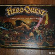 Juegos Antiguos: HEROQUEST DE MB ESPAÑOL COMPLETO 1989 JUEGO MESA ESTRATEGIA MINIATURAS DADOS. Lote 109190647